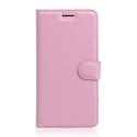 WALLETGRAIN-Y52ROSE - Etui Huawei Y5-2 rabat latéral rose coque intérieure souple
