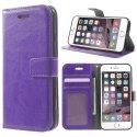 WALLETIP7VIOLET - Etui type portefeuille pour iPhone-7 coloris violet rabat latéral articulé fonction stand