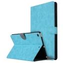 WALLETIPAD2017TURQ - Etui iPad-2017 rabat latéral turquoise fonction stand coloris noir vintage