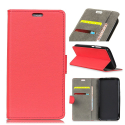WALLETMATE20LITEROUGE - Etui Mate-20 Lite portefeuille rouge rabat latéral porte-cartes fonction stand