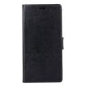 WALLETMOTOE4NOIR - Etui Moto-E4 noir rabat latéral portefeuille logements cartes
