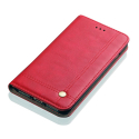 WALLMAGN-A6ROUGE - Housse Etui Galaxy A6 rabat latéral rouge aimant invisible