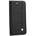 WALLMAGN-IP8NOIR - Housse Etui iPhone 7/8 rabat latéral noir aimant invisible