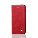WALLMAGN-S9ROUGE - Housse Etui Galaxy S9 rabat latéral rouge aimant invisible