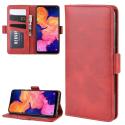 WALLVINT-A10ROUGE - Etui type portefeuille Galaxy A10 rouge avec rabat latéral fonction stand