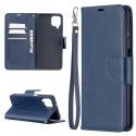 WALLVINT-A12BLEU - Etui type portefeuille Galaxy A12 bleu avec rabat latéral fonction stand