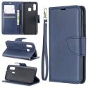 WALLVINT-A40BLEU - Etui type portefeuille Galaxy A40 bleu avec rabat latéral fonction stand