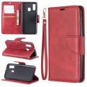 WALLVINT-A40ROUGE - Etui type portefeuille Galaxy A40 rouge avec rabat latéral fonction stand