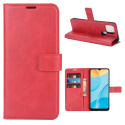 WALLVINT-OPPOA15ROUGE - Etui type portefeuille Oppo A15 rouge avec rabat latéral fonction stand