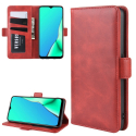 WALLVINT-OPPOA9ROUGE - Etui type portefeuille Oppo-A9 (2020) rouge avec rabat latéral fonction stand