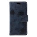 WALLVINT-XZ1COMPBLEU - Etui type portefeuille bleu vintage Xperia XZ1-Compact avec rabat latéral fonction stand