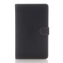 WALNUB-T280NOIR - Etui aspect nubuck noir Galaxy Tab A 2016 7 pouces (T280/T285)