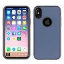 WAVEHYBRID-IPXNAVY - Coque renforcée iPhone hybride antichoc coloris bleu nuit