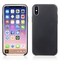WAVSOFTY-IPXNOIR - Coque souple iPhone X enveloppante noir texture matte