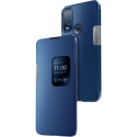 WIKOSMART-U30BLEU - Wiko Smart-Folio Power U30 coloris bleu avec rabat latéral zone de notification