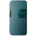 WIKOSMART-VIEW3LITEBLEEN - Wiko Smart-Folio View-3 Lite Bleen avec rabat latéral zone de notification