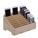 WOODBOX - Boite Rangement en bois pour smartphone 24 emplacements