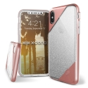 XD-REVELLUXIPXROSE - Coque iPhone X Xdoria Revel-Lux Glitter rose-gold
