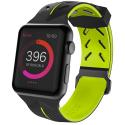 XDORIA-WATCH3X731605A - Bracelet sport souple noir et vert pour Apple Watch 38/40 mm
