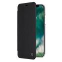 XQ-FOLIOIPXNOIR - Etui iPhone-X Xqisit Folio noir avec dos transparent