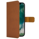 XQ-WALLETIPXMARRON - Etui iPhone-X Xqisit Wallet marron avec dos transparent
