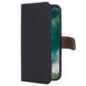 XQ-WALLETIPXNOIR - Etui iPhone-X Xqisit Wallet noir avec dos transparent