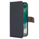 XQ-WALLETIPXSMAXNOIR - Etui iPhone-XS Max Xqisit Wallet noir avec dos transparent