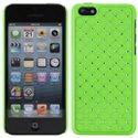 ZIRCO-IP5C-VERT - Coque rigide avec strass coloris Vert iPhone 5c