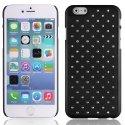 ZIRCOIP647NOIR - Coque rigide noire avec des strass incrustés pour iPhone 6 4,7 pouces