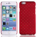 ZIRCOIP647ROUGE - Coque rigide rouge avec des strass incrustés pour iPhone 6 4,7 pouces