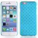 ZIRCOIP647TURQUOISE - Coque rigide turquoise avec des strass incrustés pour iPhone 6 4,7 pouces