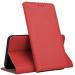 BOOKX-A20EROUGE - Etui Galaxy A20e rabat latéral fonction stand coloris rouge