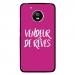 CPRN1MOTOG5VENDREVEFUSHIA - Coque rigide pour Motorola Moto G5 avec impression Motifs vendeur de rêves fushia