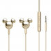 KP-MICKEYGOLD - Ecouteurs intra-auriculaires Mickey Mouse coloris gold