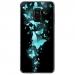 TPU0A8PLUS18PAPILLONSBLEUS - Coque souple pour Samsung Galaxy A8-Plus 2018 avec impression Motifs papillons bleus