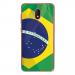 TPU0LENNY5DRAPBRESIL - Coque souple pour Wiko Lenny 5 avec impression Motifs drapeau du Brésil