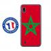 TPU0TPU0A10DRAPMAROC - Coque souple pour Samsung Galaxy A10 avec impression Motifs drapeau du Maroc