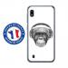 TPU0TPU0A10VIEUSINGECASQ - Coque souple pour Samsung Galaxy A10 avec impression Motifs singe avec casque