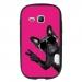 TPU1S6790FAMECHIENVFUSHIA - Coque souple pour Samsung Galaxy Fame Lite S6790 avec impression Motifs chien à lunettes sur fond f
