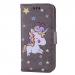 WALLICO-IP8GRIS - Housse Etui iPhone 8 Licorne avec strass et paillettes coloris gris