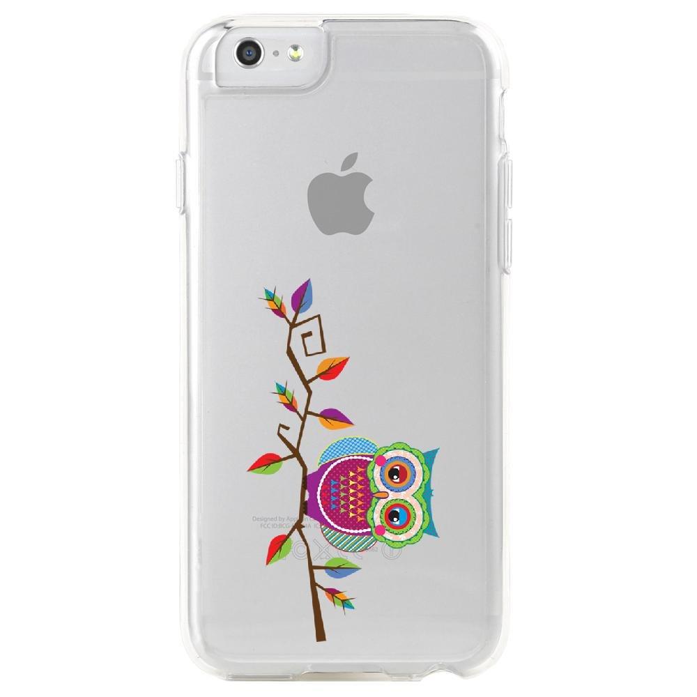Coque-rigide-transparente-pour-Apple-iPhone-6-Collection-Chouette