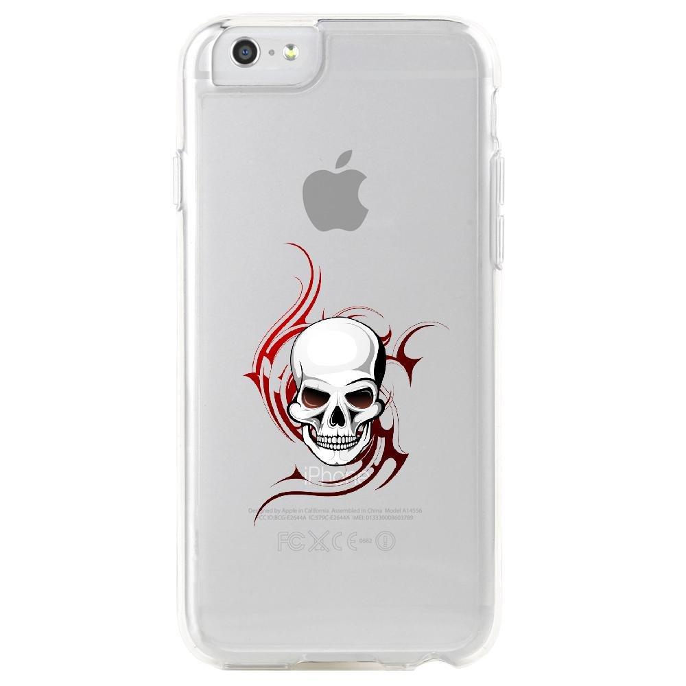 Coque-rigide-transparente-pour-Apple-iPhone-6S-Collection-Skull