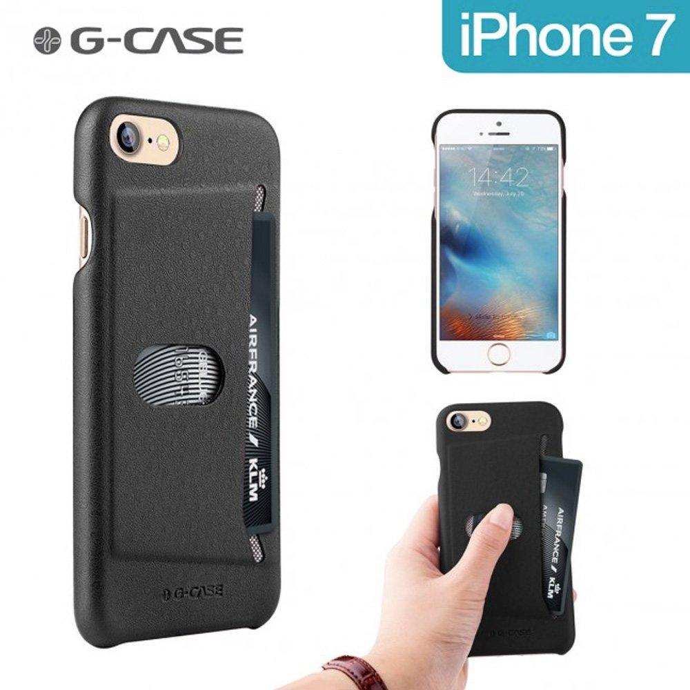 Coque iphone 7 noire collection ostrich de g case avec - Coque porte carte iphone se ...