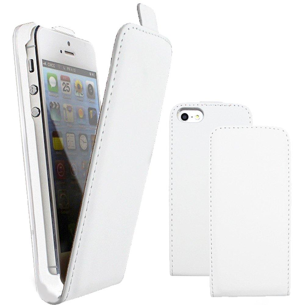 etui slim vertical blanc pour iphone se et iphone 5s kabiloo. Black Bedroom Furniture Sets. Home Design Ideas