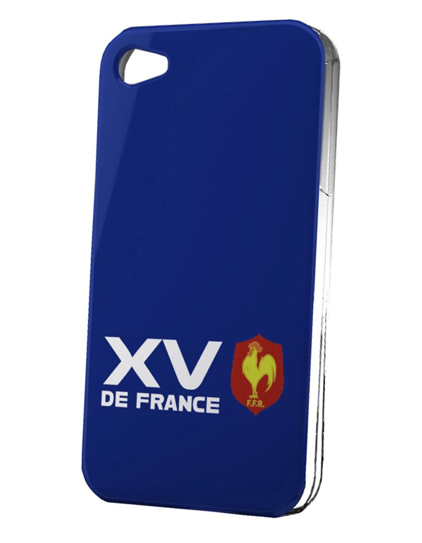 coque rugby xv de france pour iphone 5s logo fond bleu. Black Bedroom Furniture Sets. Home Design Ideas