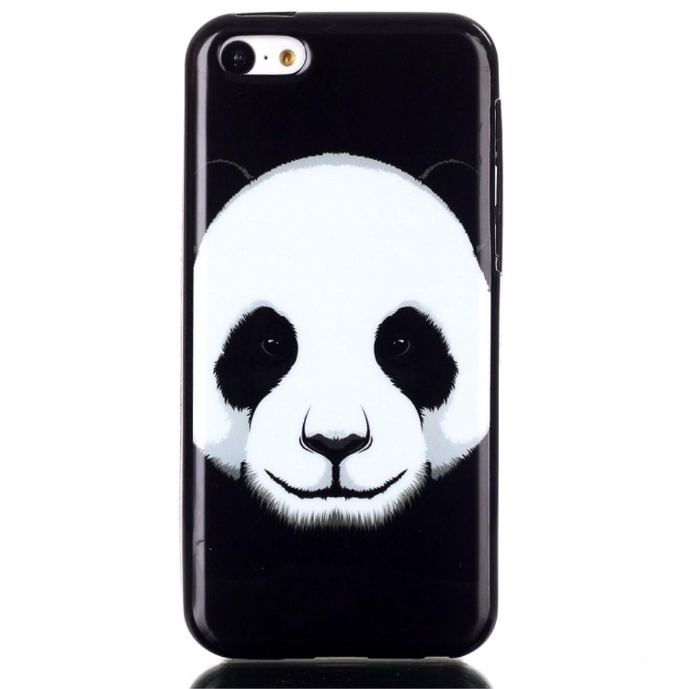 Coque souple housse noire pour iphone 5c motif panda kabiloo for Housse iphone 5c