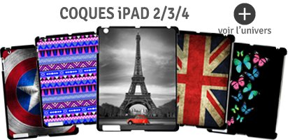 coques pour ipad 2 ,3,4
